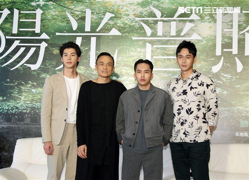 電影「陽光普照」演員劉冠廷、許光漢、陳以文、巫建和。(記者邱榮吉/攝影)
