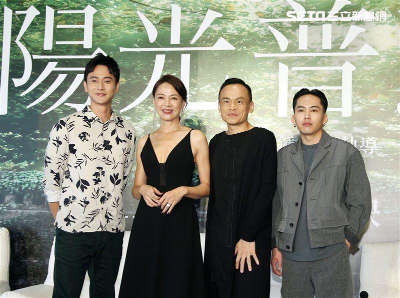 電影「陽光普照」演員劉冠廷、柯淑勤、陳以文、巫建和。(記者邱榮吉/攝影)