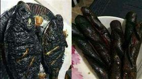 暗黑料理,煎魚,香腸,廚藝,徵男友(爆廢公社)