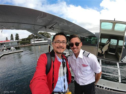 圖/勿用!!!!!!!! 陳耀恩,Ean Chen,水上飛機,IWC萬國錶號小飛機,雪梨,Sydney Highlights flight