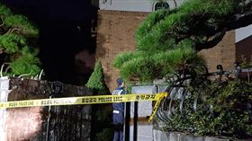 警方拉起了封鎖線,在雪莉住處「沒有發現遺書」。(圖/翻攝自newdaily)