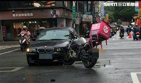 北市外送員車禍頻傳,光10月1日到13日就發生31件(翻攝畫面)