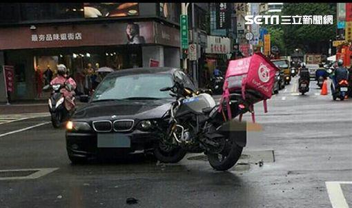 北市外送員車禍頻傳,光10月1日到13日臼發生31件(翻攝畫面)