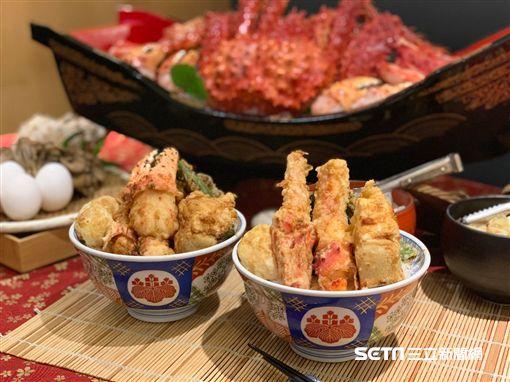 豪邁松葉蟹丼。(圖/記者馮珮汶攝)