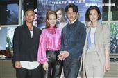 電影《聖人大盜》媒體茶敘,演員賴雅妍、曹晏豪、曾之喬、高英軒。(圖/記者林士傑攝影)