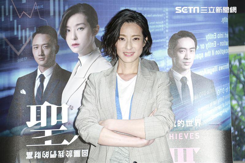 電影《聖人大盜》媒體茶敘,演員賴雅妍。(圖/記者林士傑攝影)