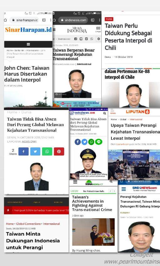 駐印尼代表及刑事局長投書印尼媒體中華民國駐印尼代表陳忠及內政部警政署刑事警察局長黃明昭近日投書印尼媒體指出,因政治因素拒絕台灣參與國際刑警組織大會,將是打擊國際犯罪的一大漏洞。(駐印尼代表處提供)中央社記者石秀娟雅加達傳真 108年10月15日