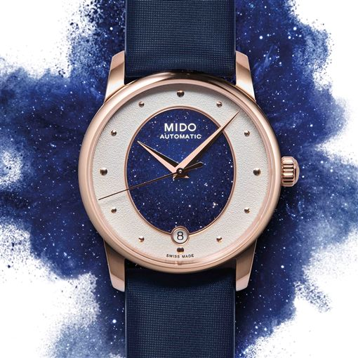 MIDO美度表全新女錶Baroncelli Wild Stone永恆系列彩石腕錶。(圖/品牌提供)