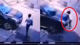女律師遭轎車加速撞輾亡!夾車底血噴一地喊:救我…顫抖打最後電話給老公(圖/微博)