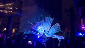 聖露西亞獨立40週年音樂會在台舉行(2)聖露西亞駐台大使館15日在台北舉辦獨立40週年慶祝音樂會,聖露西亞嘉年華舞團Tribe of Twel帶來遊行表演,講述聖露西亞建立家園的故事。中央社記者侯姿瑩攝 108年10月15日