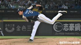 王溢正台灣大賽先發。(圖/記者王怡翔攝影)