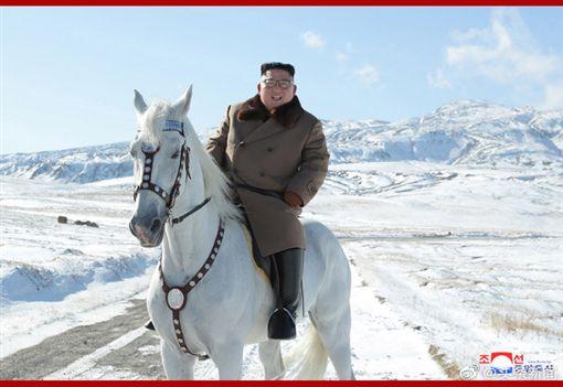 (圖/翻攝自微博)中國,北韓,長白山,白馬王子,金正恩