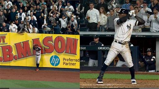 ▲洋基葛果里耶斯(Didi Gregorius)差點擊出逆轉3分砲。(圖/翻攝自MLB官網)