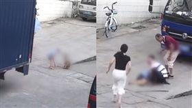 5歲童街上玩耍慘被貨車輾壓 司機發現真相淚崩:後照鏡裡沒東西(圖/梨視頻)