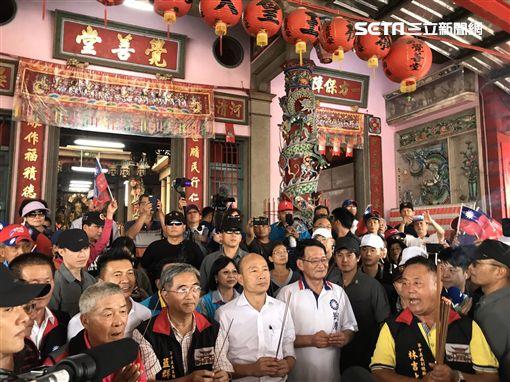 韓國瑜請假三個月,16日南下屏東展開一連串環島行程。韓辦提供