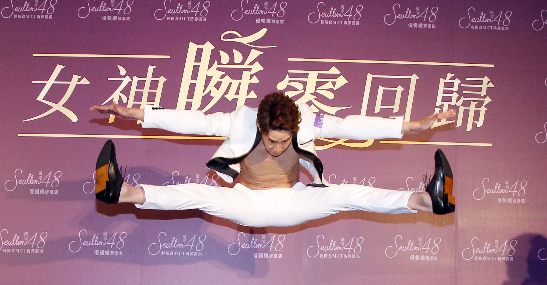 吳東諺則是瘦了6公斤。(記者邱榮吉/攝影)