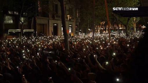 不滿獨派領袖重判入獄 15萬加泰民眾上街