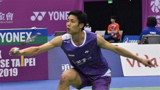 ▲周天成晉級台北公開賽男單4強。(圖/記者林辰彥攝影)