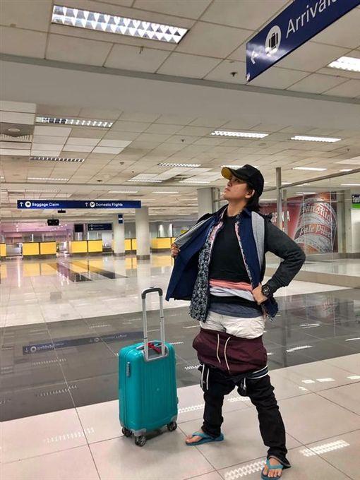菲律賓,女子Gel Rodriguez行李超重(圖/翻攝自臉書)