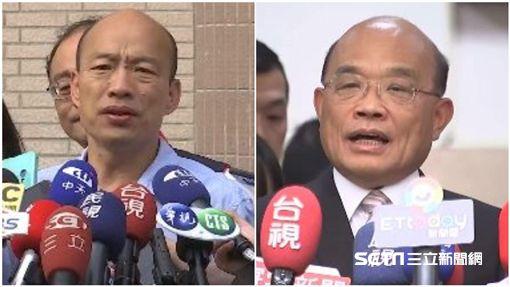 又撿到槍!蘇貞昌提醒韓國瑜:你選的不是中華民國地區總統組合圖,新聞台資料照