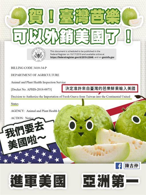 芭樂、外銷 圖/翻攝自陳吉仲臉書