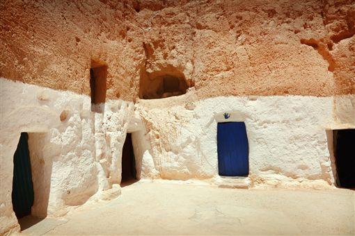 ▲突尼西亞原住民柏柏人的家(圖/shutterstock.com)
