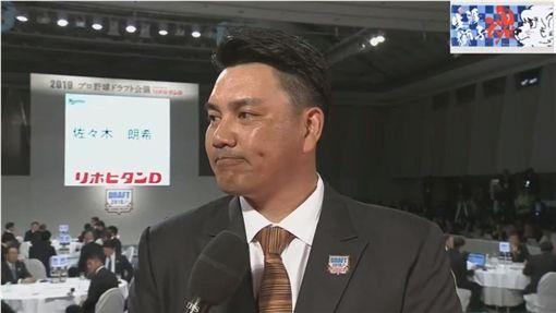 ▲千葉羅德總教練井口資仁抽中佐佐木朗希。(圖/翻攝自YouTube)