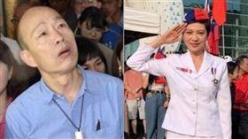 熊海靈在國慶活動挺韓,慘遭高市府開罰,她竟因此怒批「綠色恐怖」。(組合圖/資料照、翻攝自臉書)
