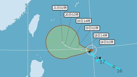 東北風影響,颱風浣熊,日夜溫差大,短暫陣雨,安全(圖/中央氣象局)