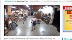 破壞完順便洗澡被逮捕。(圖/翻攝自news-press) https://www.news-press.com/story/news/crime/2019/10/15/cape-coral-man-charged-after-being-found-naked-inside-lee-county-business/3983365002/