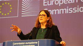 世界貿易組織,美國貿易代表署,歐盟部分產品,加徵關稅,生效(圖/中央社)