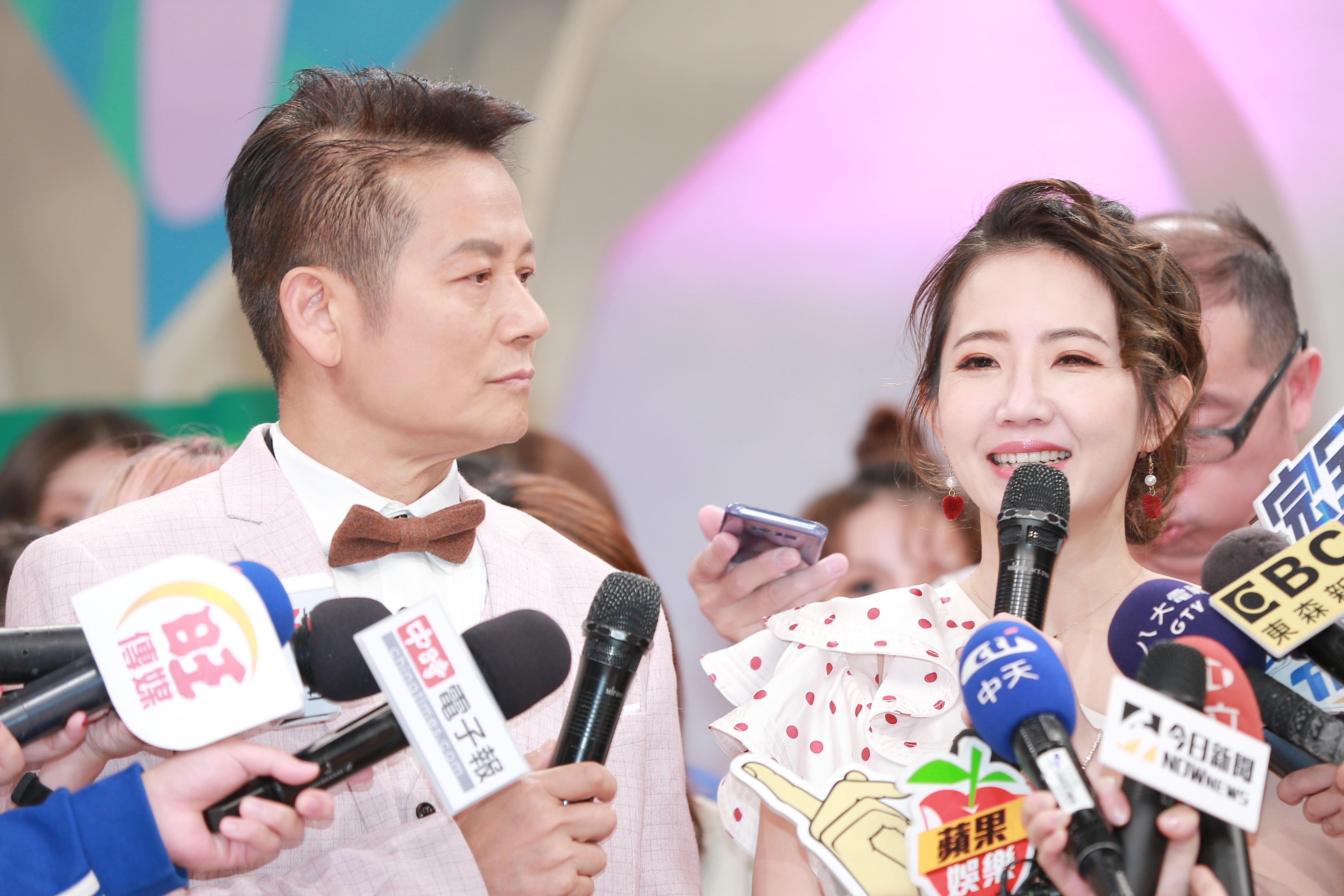 徐乃麟與謝忻開新節目。(圖/記者林士傑攝影)
