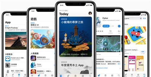 Apple、Facebook、Uber、Netflix、eBay等大型電商,都將陸續在2019年底、2020年初首度開立雲端發票。圖為Apple APP Store。(圖取自蘋果公司網頁apple.com)
