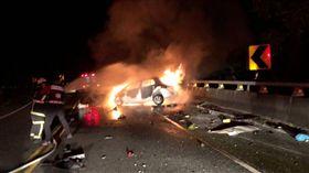 火燒車,自撞,清潔隊員,台東,燒死