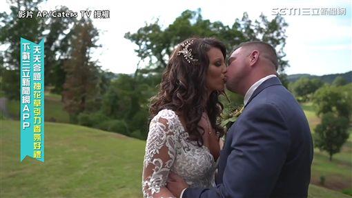 ▲▼在整人驚喜過後,重點可不能錯過,後來Billy終於等到真正的新娘子。(圖/AP/Caters TV 授權)