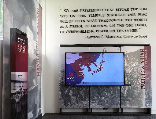 馬尼拉美軍公墓遊客中心開幕 影像呈現二戰歷史馬尼拉美軍公墓遊客中心19日開幕,以影像方式呈現第二次世界大戰歷史。中央社記者陳妍君馬尼拉攝 108年10月19日
