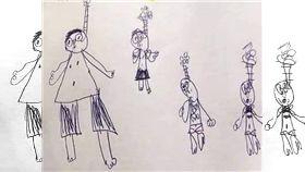 吊頸,浮潛,日記,繪圖,學生,老師,教學,作業,假日,馬來西亞,繩子,呼吸管,畫畫 圖/翻攝自臉書