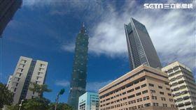 台北市房市情境,101大樓、南山人壽。(圖/記者陳韋帆攝影)