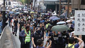 遊行於下午1時30開始,從尖沙咀文化中心附近出發,經九龍公園徑近遊行到高鐵西九龍站。中央社記者張謙香港攝 108年10月20日