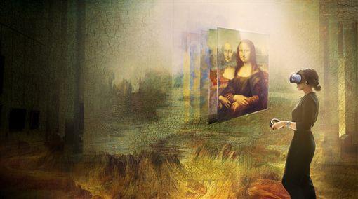 宏達電與法國羅浮宮攜手,合作VR「蒙娜麗莎:越界視野」將於24日展出,該作品是羅浮宮及達文西名作「蒙娜麗莎」史上第一個VR內容。(宏達電提供)中央社記者江明晏傳真 108年10月21日