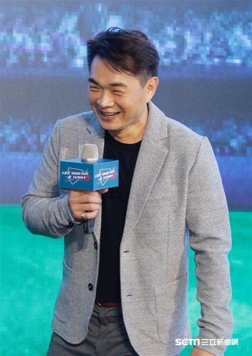 彭政閔出席「Home Run Taiwan 轟吧!臺灣」紀錄片首映會。(圖/記者林聖凱攝影)