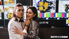 B2與老婆晗晗重返《康熙》攝影棚拍婚紗。(圖/B2授權提供)