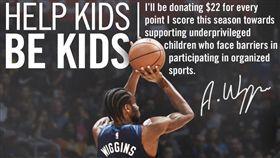 NBA/狀元狼「出怪招」捐款助貧童 NBA,明尼蘇達灰狼,Andrew Wiggins,慈善 翻攝自推特