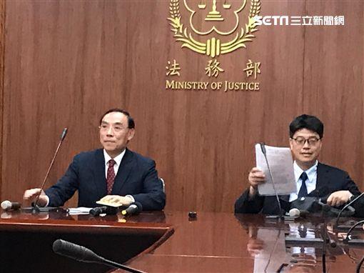針對港女命案,法務部、陸委會聯合召開記者會說明。(圖/記者楊佩琪攝)