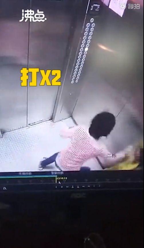 媽媽電梯爆打童。(圖/翻攝自新京報)https://www.weibo.com/1644114654/IcweUeh74?type=comment