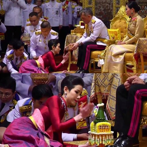 泰王泰王瓦吉拉隆功(Vajiralongkorn)冊封隨扈詩妮娜(Sineenat Wongvajirapakdi)為貴妃。翻攝IG