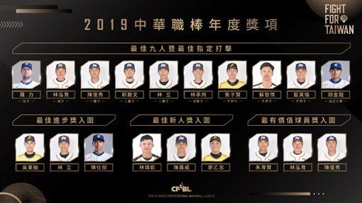 ▲中華職棒公布年度最佳9人獎項。(圖/中華職棒提供)
