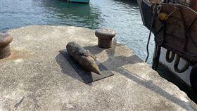 宜蘭,未爆彈,大溪漁港,繫纜樁(圖/翻攝畫面)