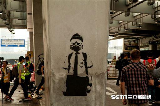 ▲香港反送中運動,10月20日九龍大遊行。全副武裝的香港學生。(圖/駐香港特約記者王志杰攝影)