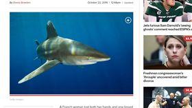 法國,游泳,大溪地,鯊魚。(圖/翻攝自nypost)
